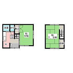 吉田貸家[2階]の間取り