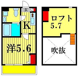 アコルソ松戸[1階]の間取り