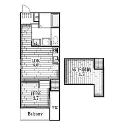 カーネルヴィレッジ[2階]の間取り