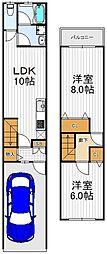[一戸建] 大阪府大阪市生野区林寺3丁目 の賃貸【大阪府 / 大阪市生野区】の間取り