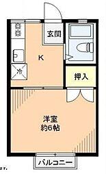 セゾンドルミナB棟[1階]の間取り