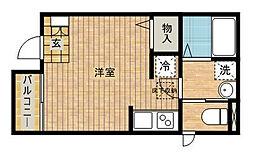 神奈川県川崎市高津区千年新町の賃貸アパートの間取り