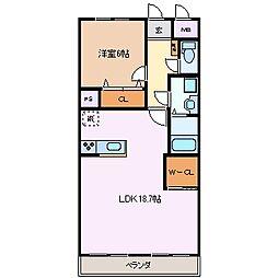 元新マンション[3階]の間取り