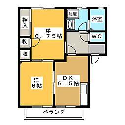 福地ハイツII[1階]の間取り