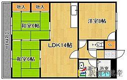 JR鹿児島本線 九産大前駅 徒歩1分の賃貸マンション 3階3LDKの間取り