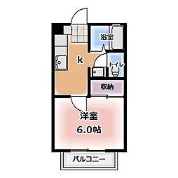 T-House西春[205号室]の間取り