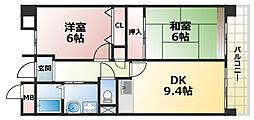 徳井ハイツ[3階]の間取り