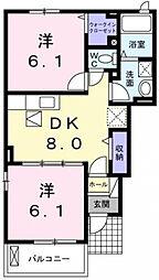 ブリアンベル・ウッドII[1階]の間取り