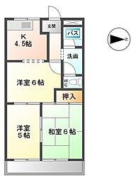 セントラルハイムTAKAHASHI[3階]の間取り