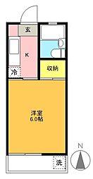セダ—ハウス[204号室]の間取り
