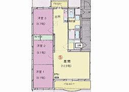 愛媛県松山市西石井2丁目の賃貸マンションの間取り