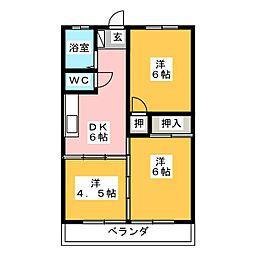 ハイツ元八事[3階]の間取り