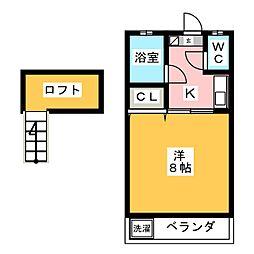 リンデンANDOH[2階]の間取り