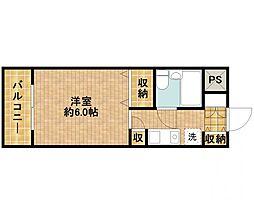 モナークマンション武蔵新城第2[2階]の間取り