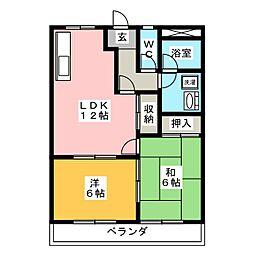 バンティアン[2階]の間取り