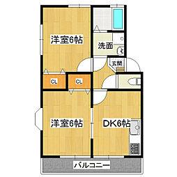 KMS・S4 A-2[3階]の間取り