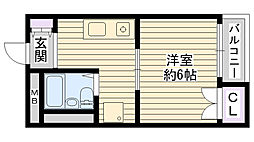 大阪府大阪市鶴見区鶴見3丁目の賃貸マンションの間取り
