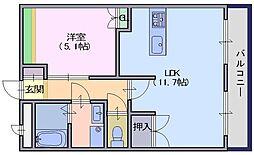 Merveille二階堂[3階]の間取り