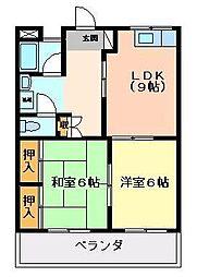 宮崎県宮崎市清武町あさひ1丁目の賃貸マンションの間取り