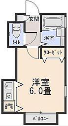 東京都三鷹市新川5丁目の賃貸アパートの間取り