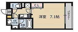 ゲートコート大阪福島[8階]の間取り