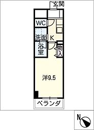meLiV栄生[2階]の間取り