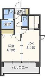 ソレイユ六本松[2階]の間取り