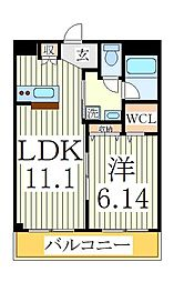 大室ノースコート[2階]の間取り