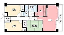 ストリームサイド甲子園[4階]の間取り