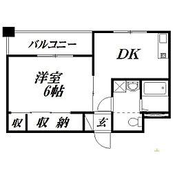静岡県浜松市中区旅籠町の賃貸マンションの間取り