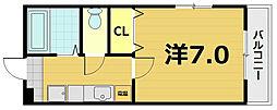 第61長栄エクセレントハイム[1階]の間取り