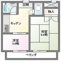 第2ヤマケンビル[2階]の間取り