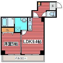 fleuve福住[4階]の間取り