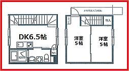 東京都北区岸町2丁目の賃貸アパートの間取り