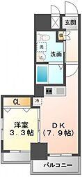 K'sスクエア江坂[10階]の間取り