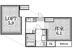 ハーモニーテラス八代町III[1階]の間取り