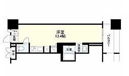 神奈川県横浜市中区扇町1丁目の賃貸マンションの間取り