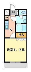 ファーストJUN[2階]の間取り