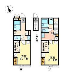 兵庫県加西市北条町古坂7の賃貸アパートの間取り