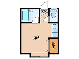 コーポ紀ノ川[2階]の間取り