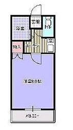 高松琴平電気鉄道長尾線 高田駅 徒歩5分の賃貸アパート 2階1Kの間取り