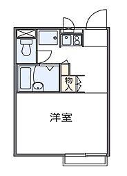 東京都府中市若松町5丁目の賃貸アパートの間取り