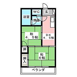 日光寺マンション[2階]の間取り