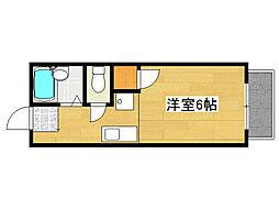 兵庫県神戸市灘区楠丘町4丁目の賃貸アパートの間取り