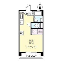 宗川マンション[302号室]の間取り