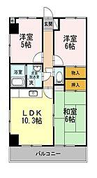 東京都練馬区高松5丁目の賃貸マンションの間取り