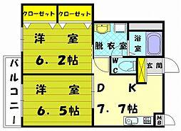 シーサイドヒルズ3[1階]の間取り