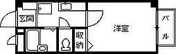 兵庫県西宮市西福町の賃貸アパートの間取り