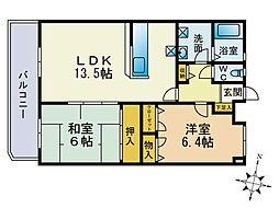 ロイヤルコート尾崎[2階]の間取り
