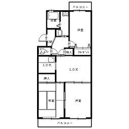 エスパシオUNO[3階]の間取り